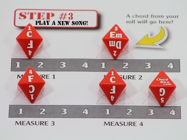 Chord Dice Key of C Major
