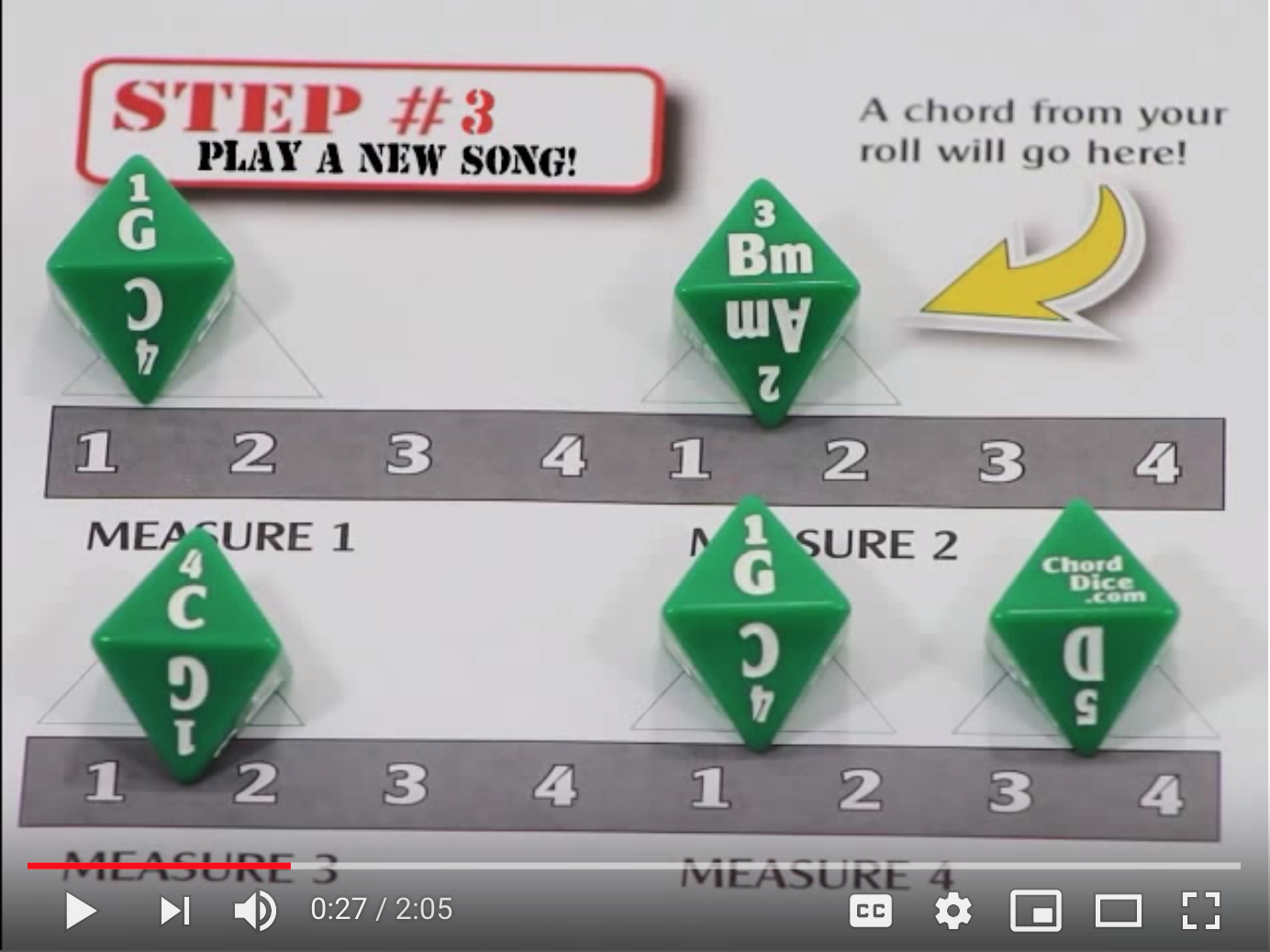 dice game for guitar players video